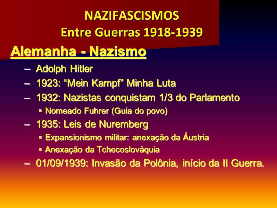 NAZIFASCISMOS Entre Guerras 1918-1939
