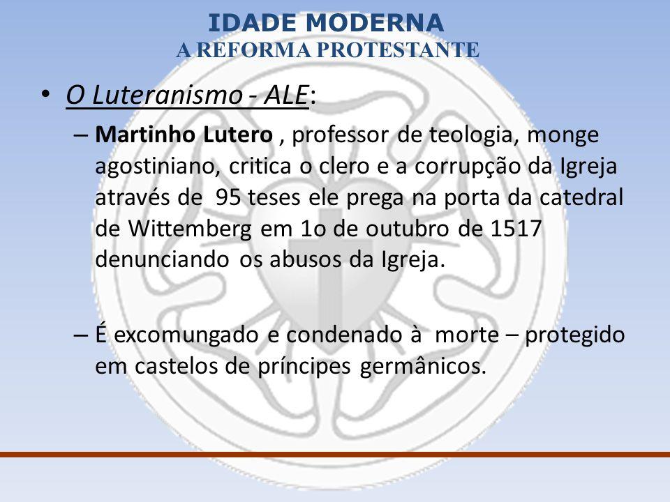 O Luteranismo - ALE: