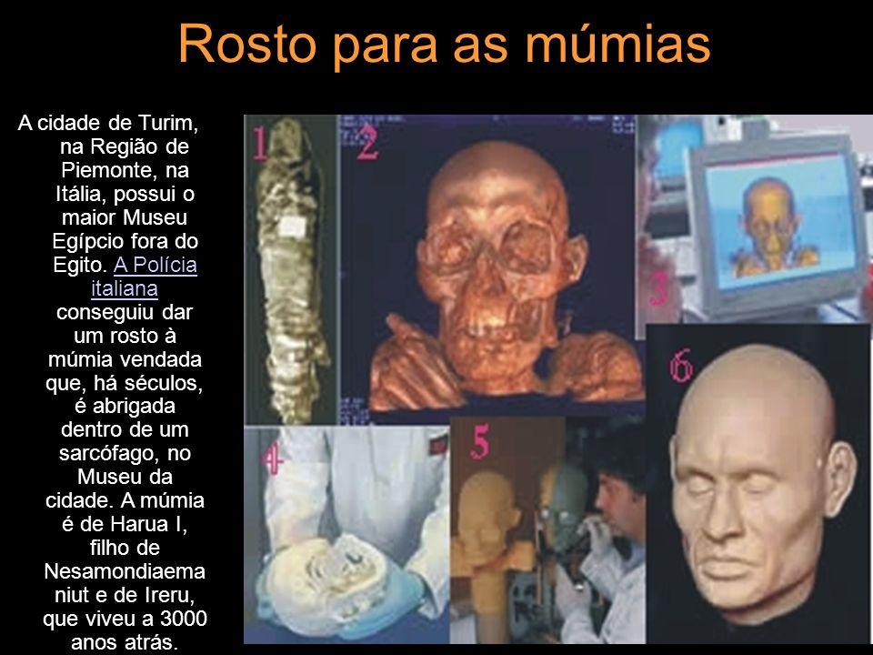 Rosto para as múmias