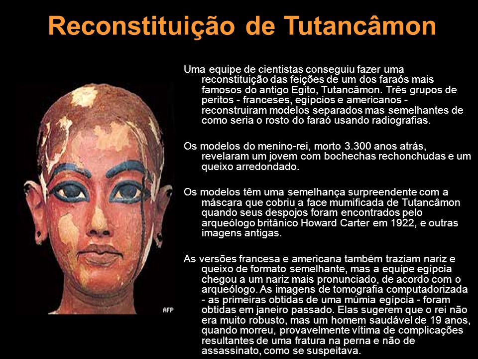 Reconstituição de Tutancâmon