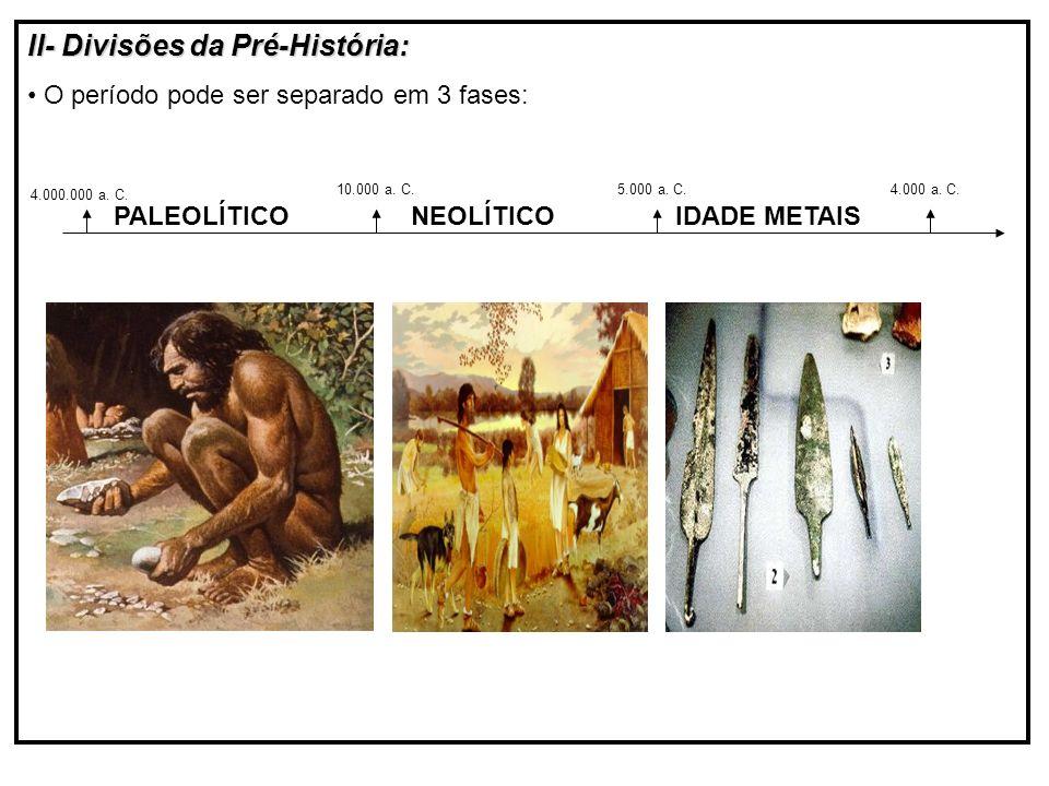 II- Divisões da Pré-História: