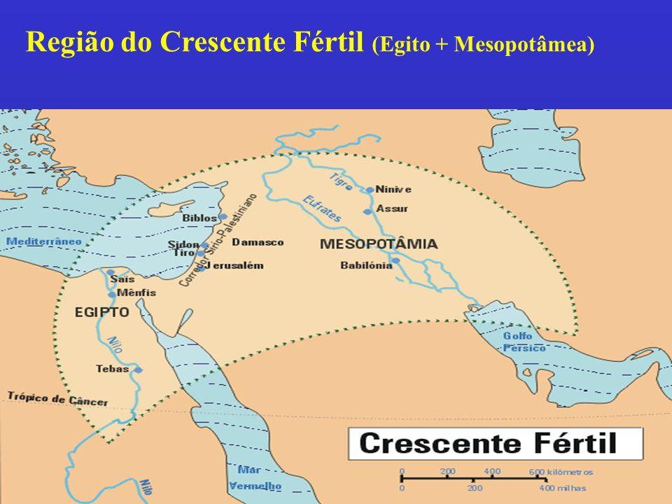 Região do Crescente Fértil (Egito + Mesopotâmea)
