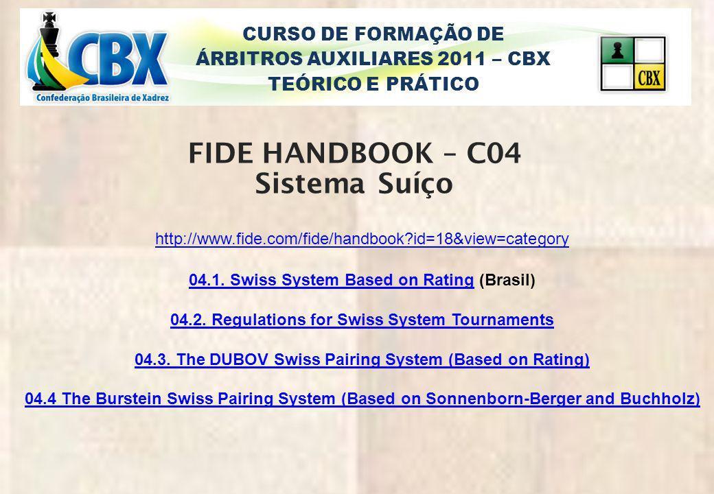 FIDE HANDBOOK – C04 Sistema Suíço