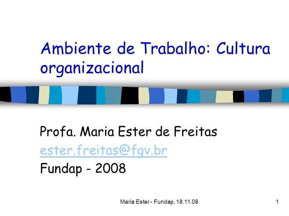 Ambiente de Trabalho: Cultura organizacional