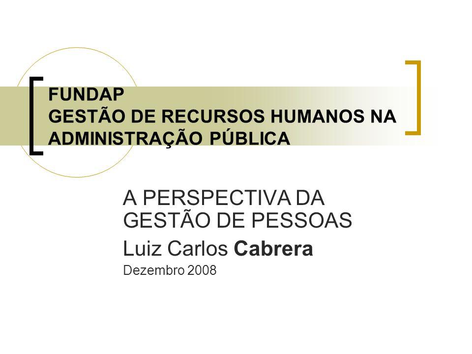 FUNDAP GESTÃO DE RECURSOS HUMANOS NA ADMINISTRAÇÃO PÚBLICA