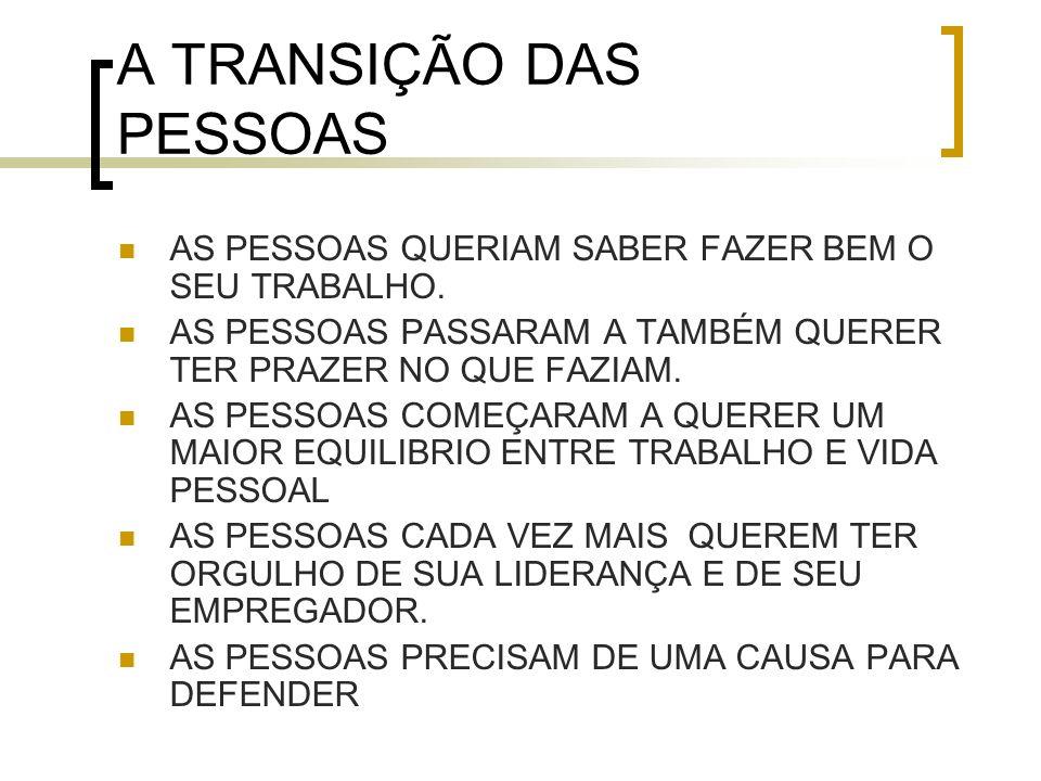 A TRANSIÇÃO DAS PESSOAS
