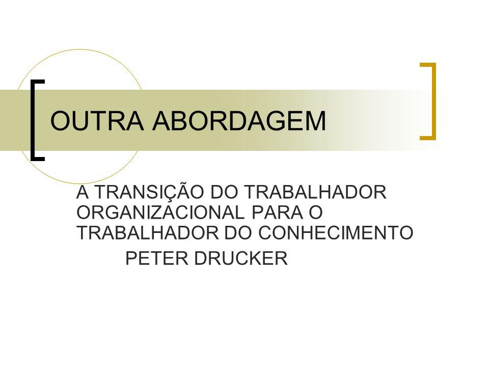 OUTRA ABORDAGEM A TRANSIÇÃO DO TRABALHADOR ORGANIZACIONAL PARA O TRABALHADOR DO CONHECIMENTO.