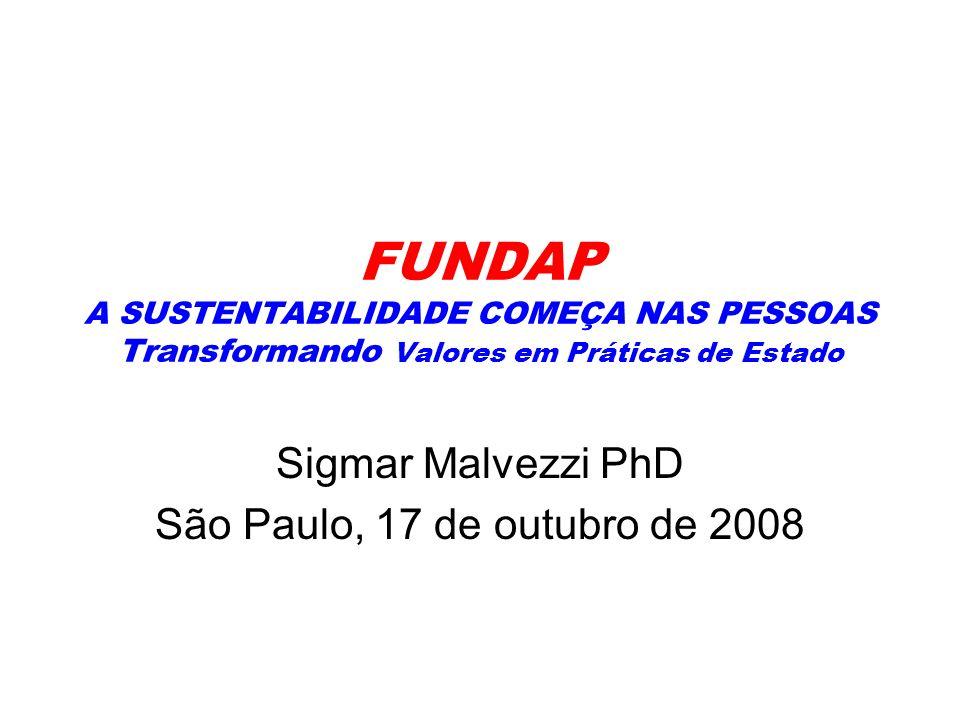 Sigmar Malvezzi PhD São Paulo, 17 de outubro de 2008
