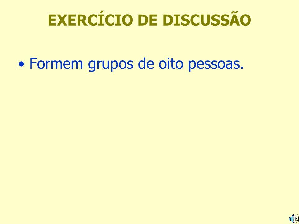 EXERCÍCIO DE DISCUSSÃO