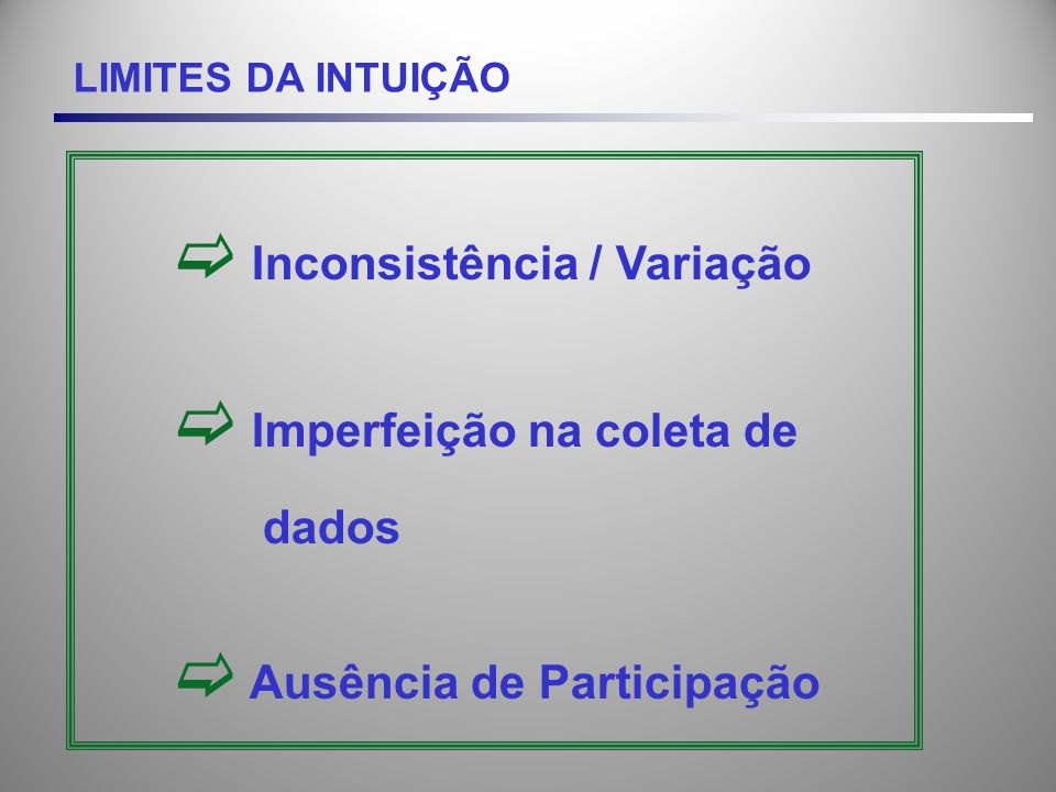 Inconsistência / Variação