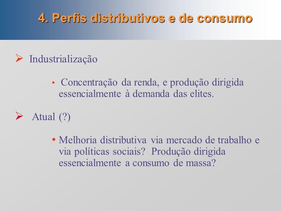4. Perfis distributivos e de consumo