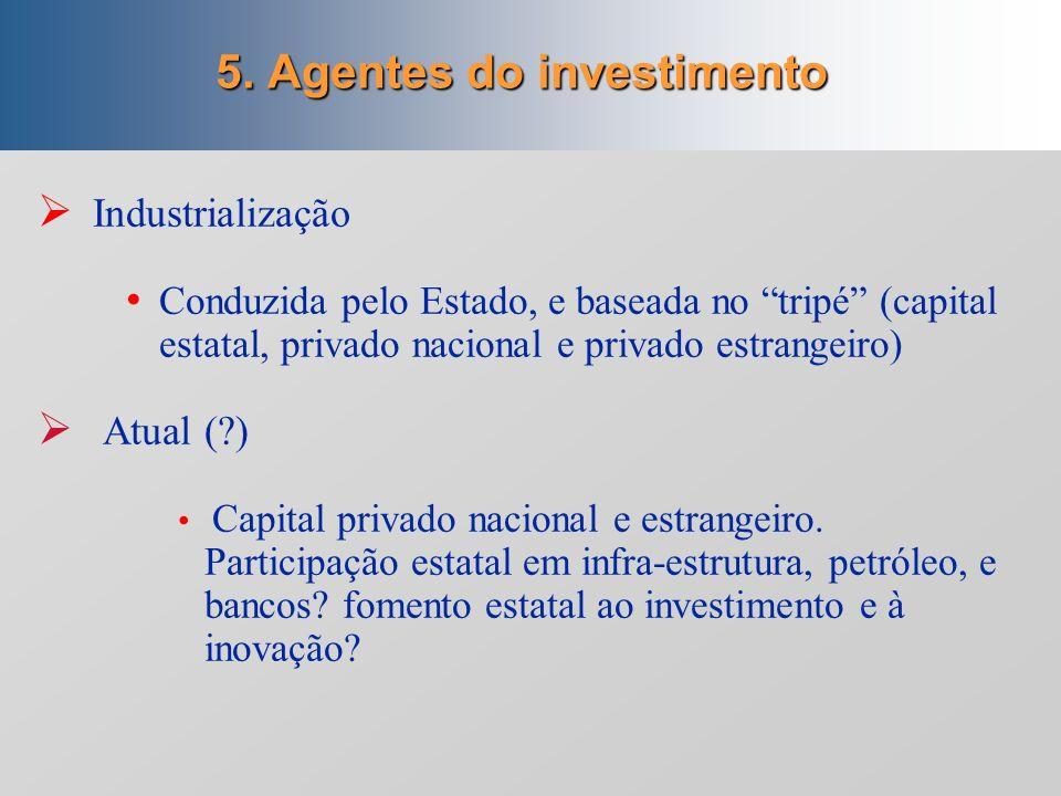 5. Agentes do investimento