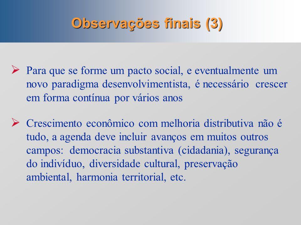 Observações finais (3)