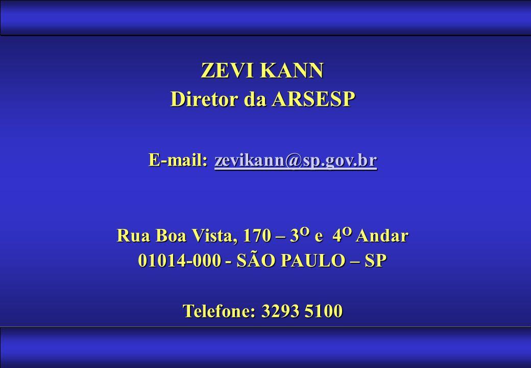 E-mail: zevikann@sp.gov.br Rua Boa Vista, 170 – 3O e 4O Andar