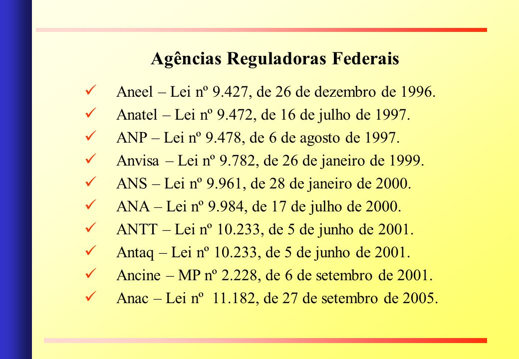 Agências Reguladoras Federais