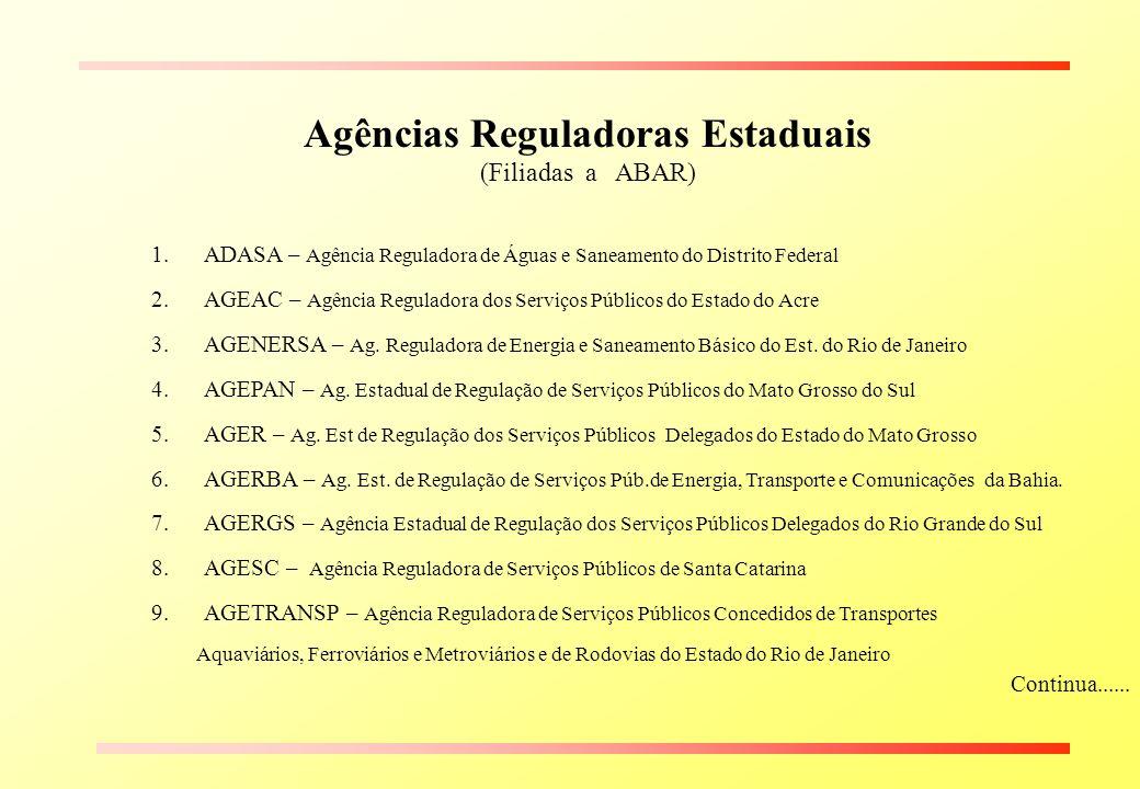 Agências Reguladoras Estaduais