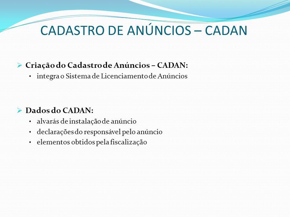 CADASTRO DE ANÚNCIOS – CADAN