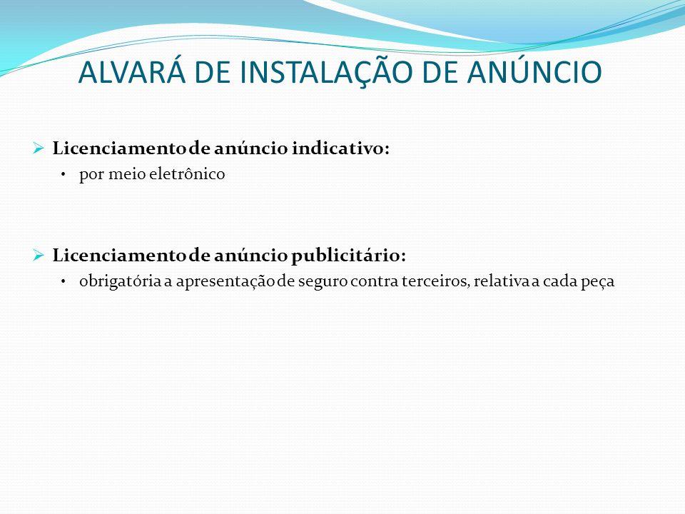 ALVARÁ DE INSTALAÇÃO DE ANÚNCIO