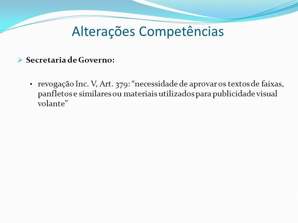 Alterações Competências