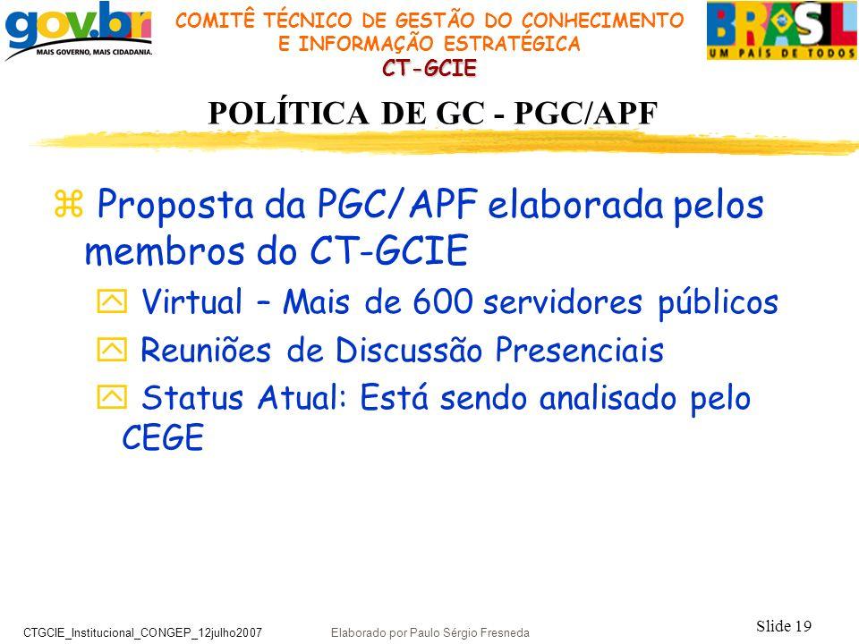 POLÍTICA DE GC - PGC/APF