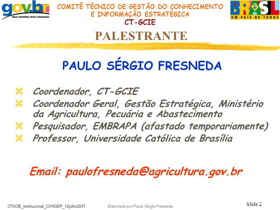 Elaborado por Paulo Sérgio Fresneda