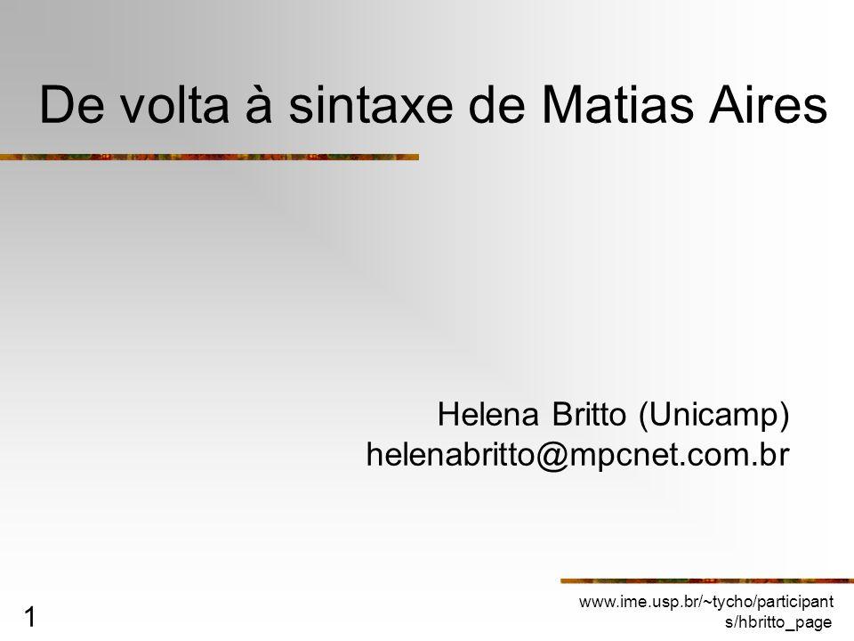 De volta à sintaxe de Matias Aires