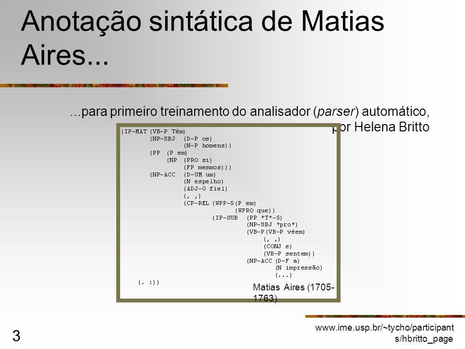 Anotação sintática de Matias Aires...
