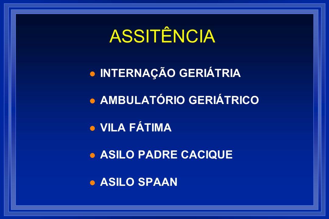 ASSITÊNCIA INTERNAÇÃO GERIÁTRIA AMBULATÓRIO GERIÁTRICO VILA FÁTIMA