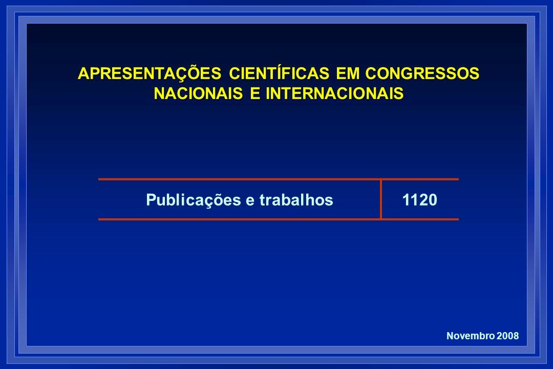APRESENTAÇÕES CIENTÍFICAS EM CONGRESSOS NACIONAIS E INTERNACIONAIS