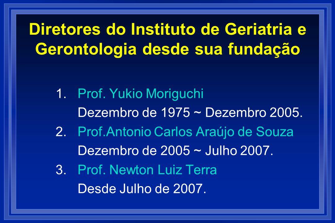 Diretores do Instituto de Geriatria e Gerontologia desde sua fundação