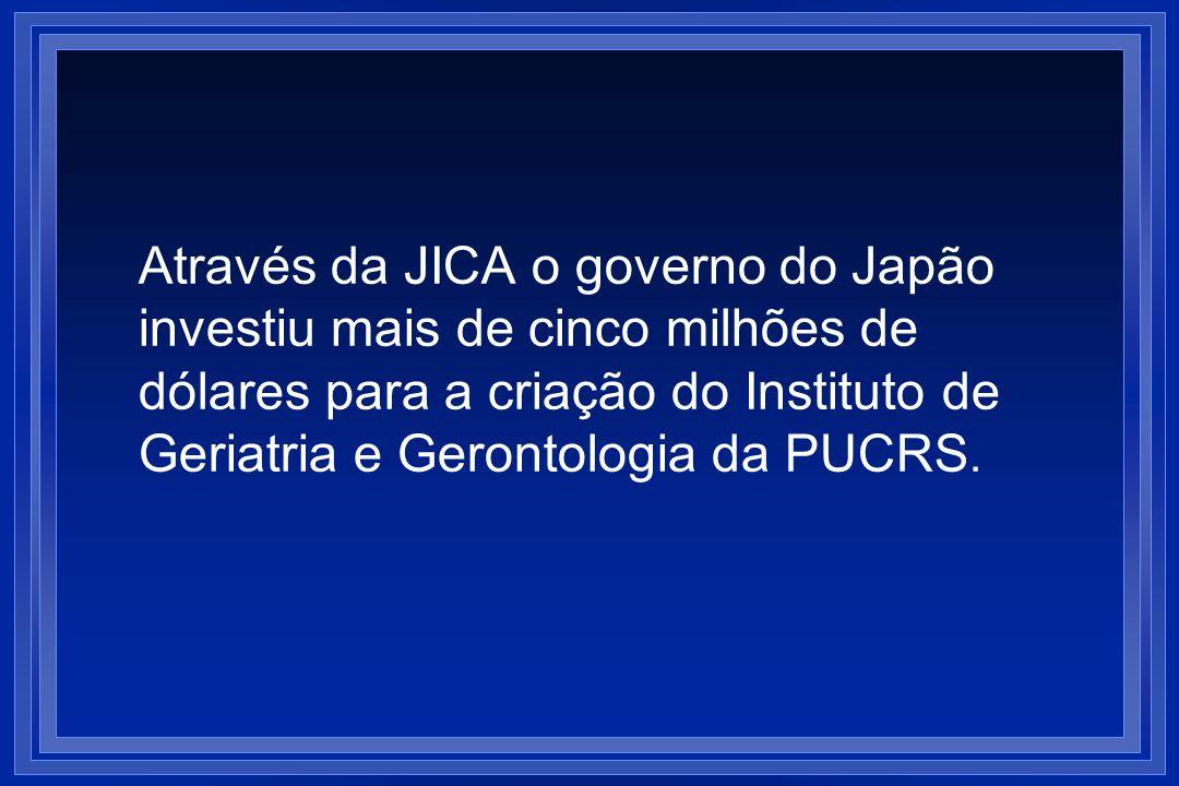 Através da JICA o governo do Japão investiu mais de cinco milhões de dólares para a criação do Instituto de Geriatria e Gerontologia da PUCRS.