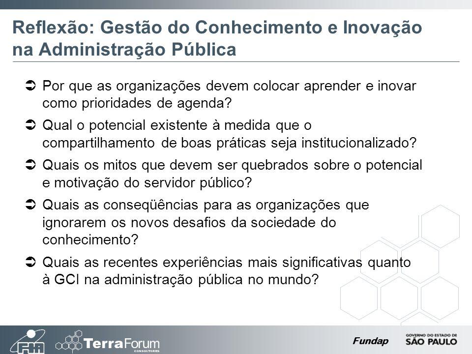Reflexão: Gestão do Conhecimento e Inovação na Administração Pública