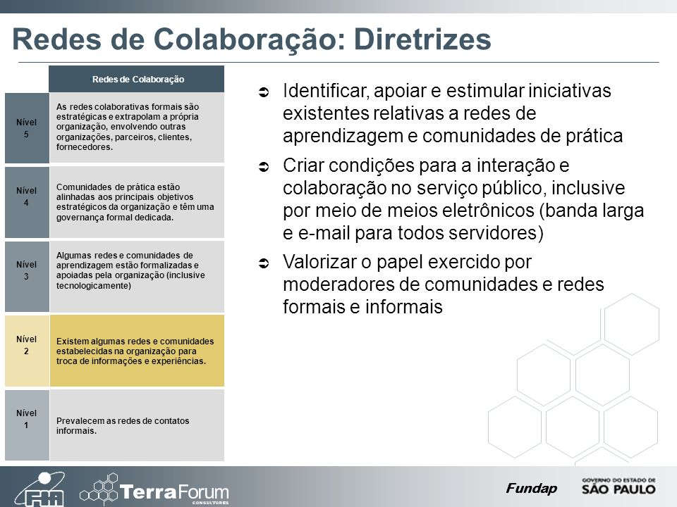 Redes de Colaboração: Diretrizes