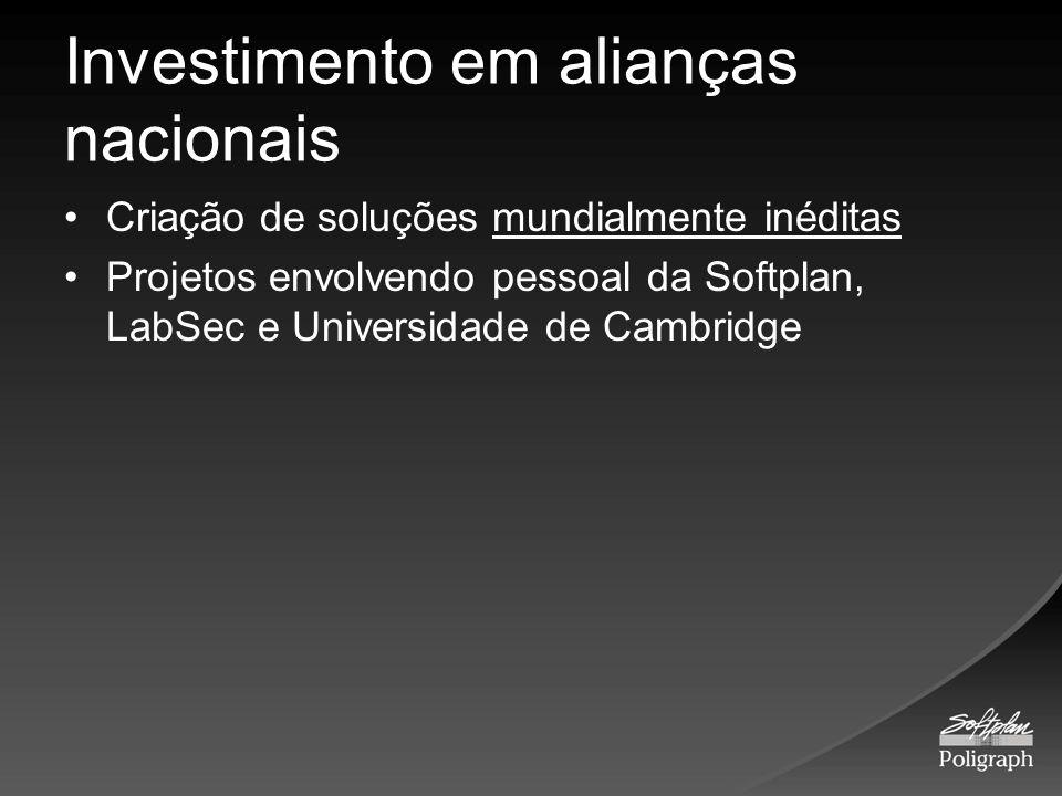 Investimento em alianças nacionais