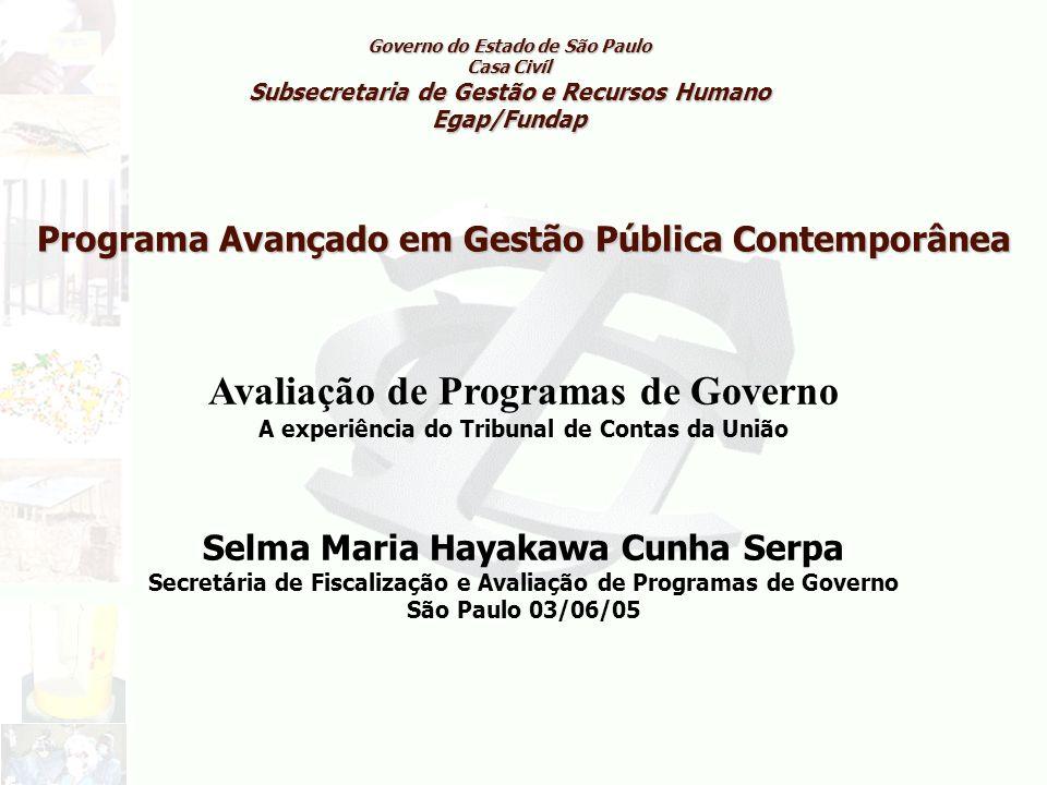 Avaliação de Programas de Governo