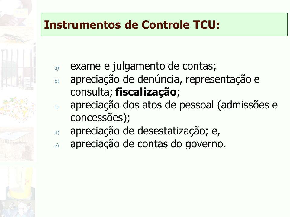 Instrumentos de Controle TCU: