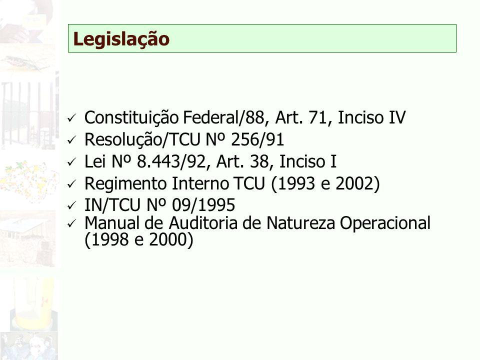 Legislação Constituição Federal/88, Art. 71, Inciso IV