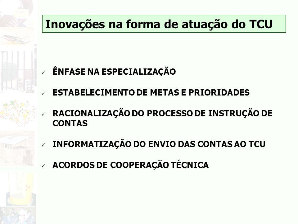 Inovações na forma de atuação do TCU