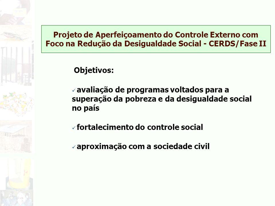Projeto de Aperfeiçoamento do Controle Externo com Foco na Redução da Desigualdade Social - CERDS/Fase II