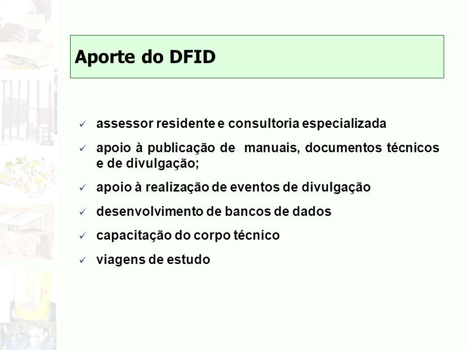 Aporte do DFID assessor residente e consultoria especializada