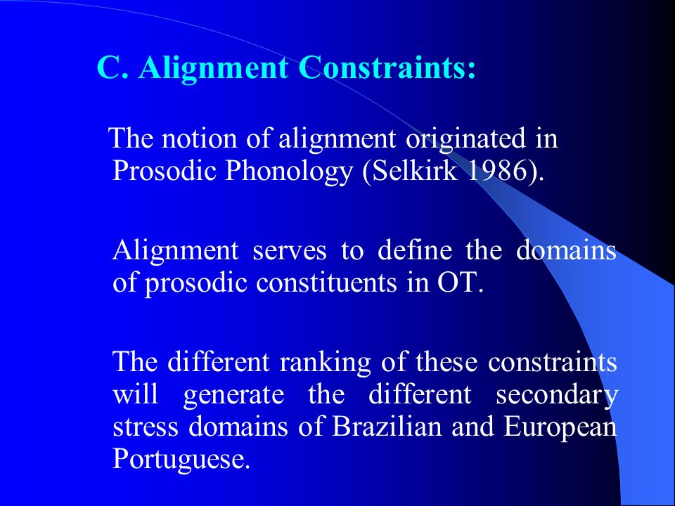 C. Alignment Constraints: