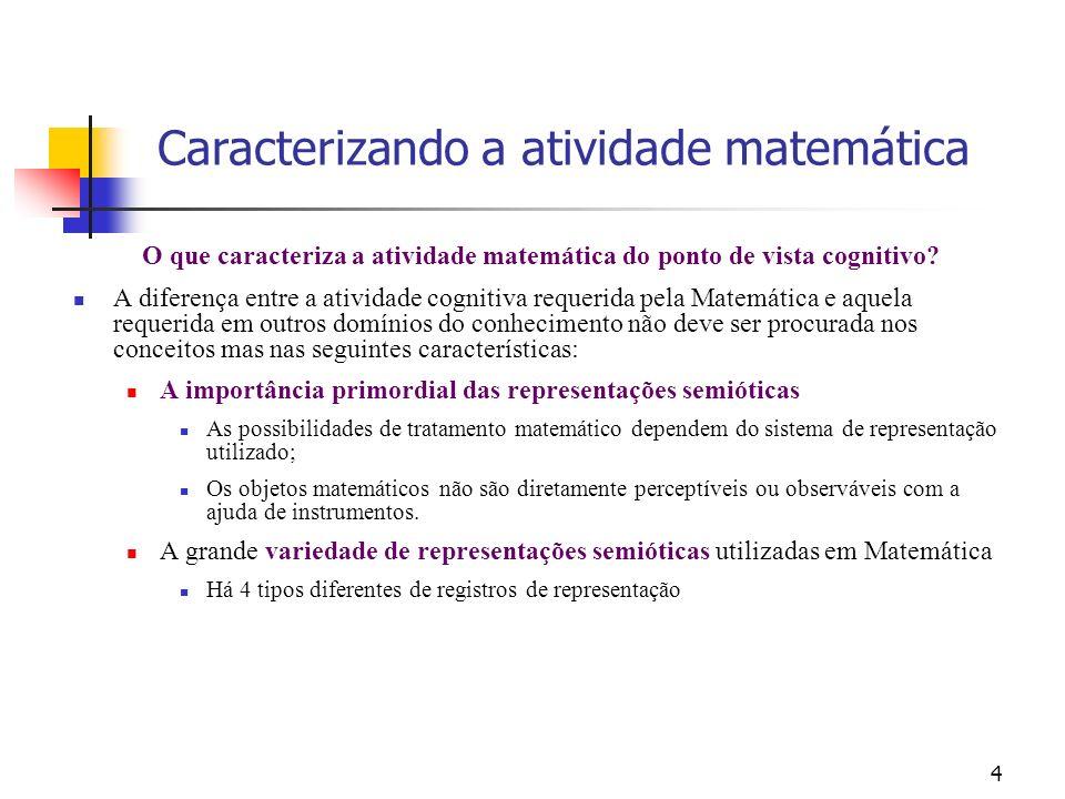 O que caracteriza a atividade matemática do ponto de vista cognitivo