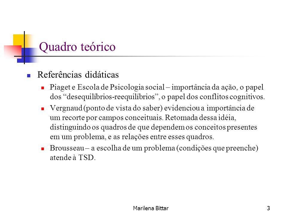 Quadro teórico Referências didáticas