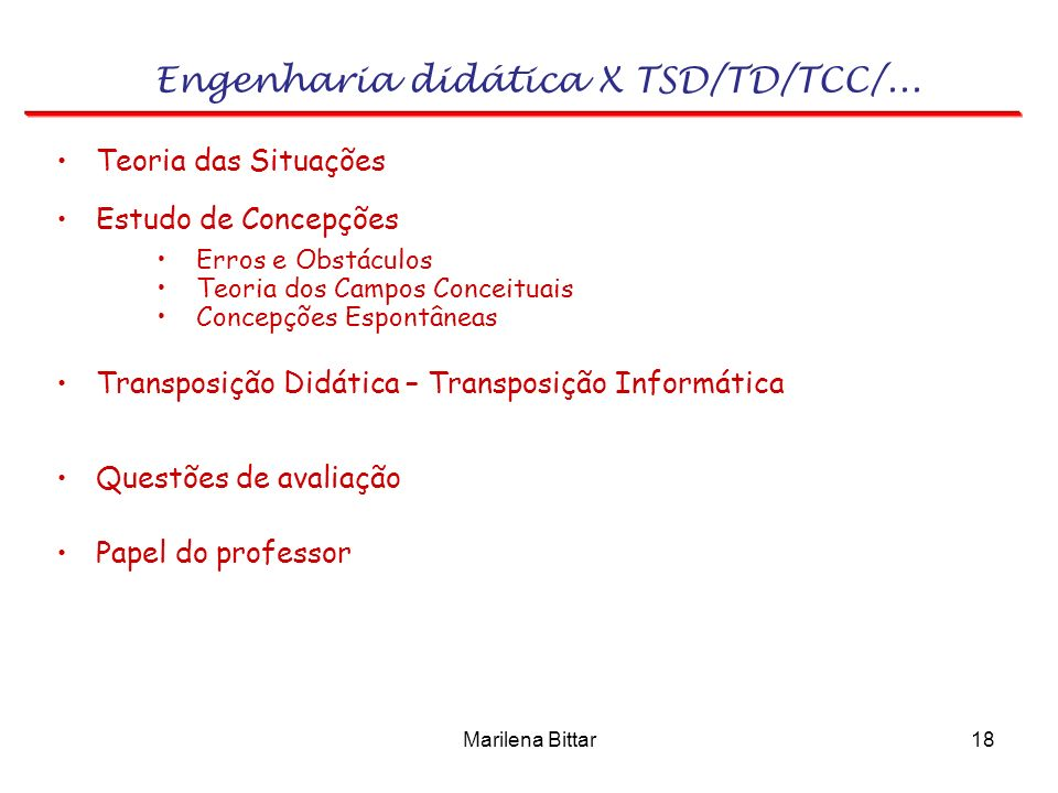 Engenharia didática X TSD/TD/TCC/...