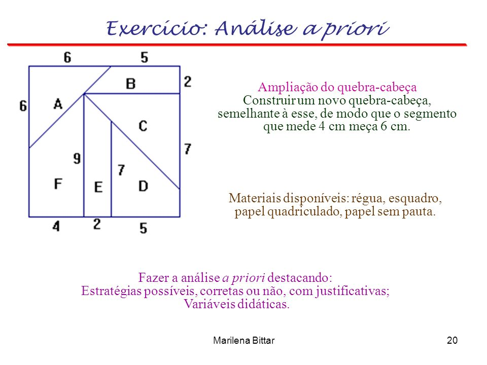 Exercício: Análise a priori