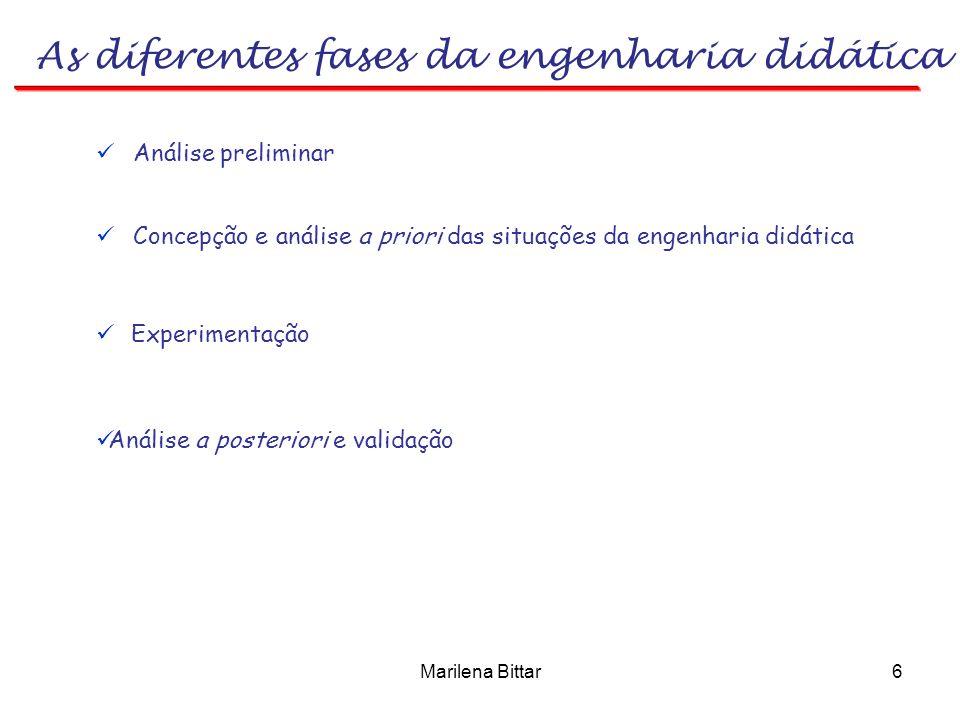 As diferentes fases da engenharia didática