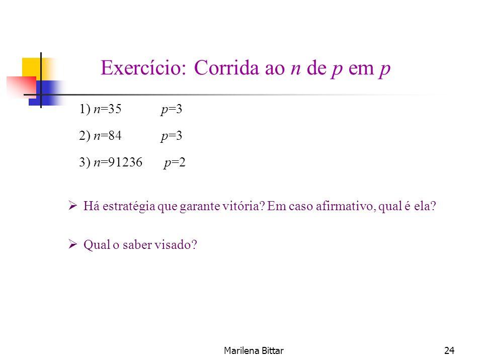 Exercício: Corrida ao n de p em p