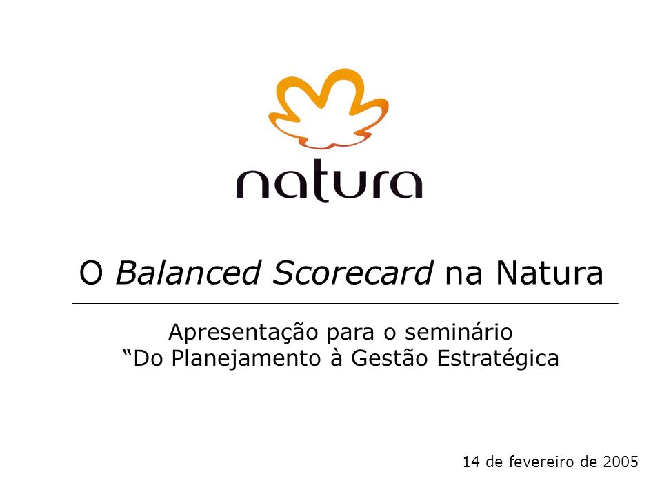 O Balanced Scorecard na Natura