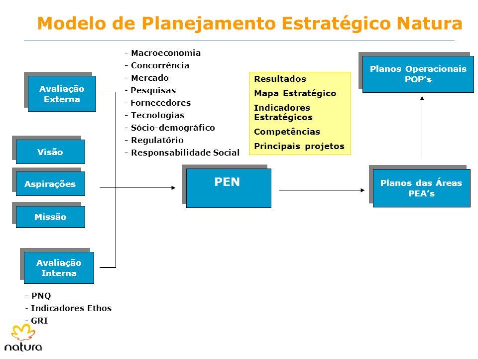 Modelo de Planejamento Estratégico Natura