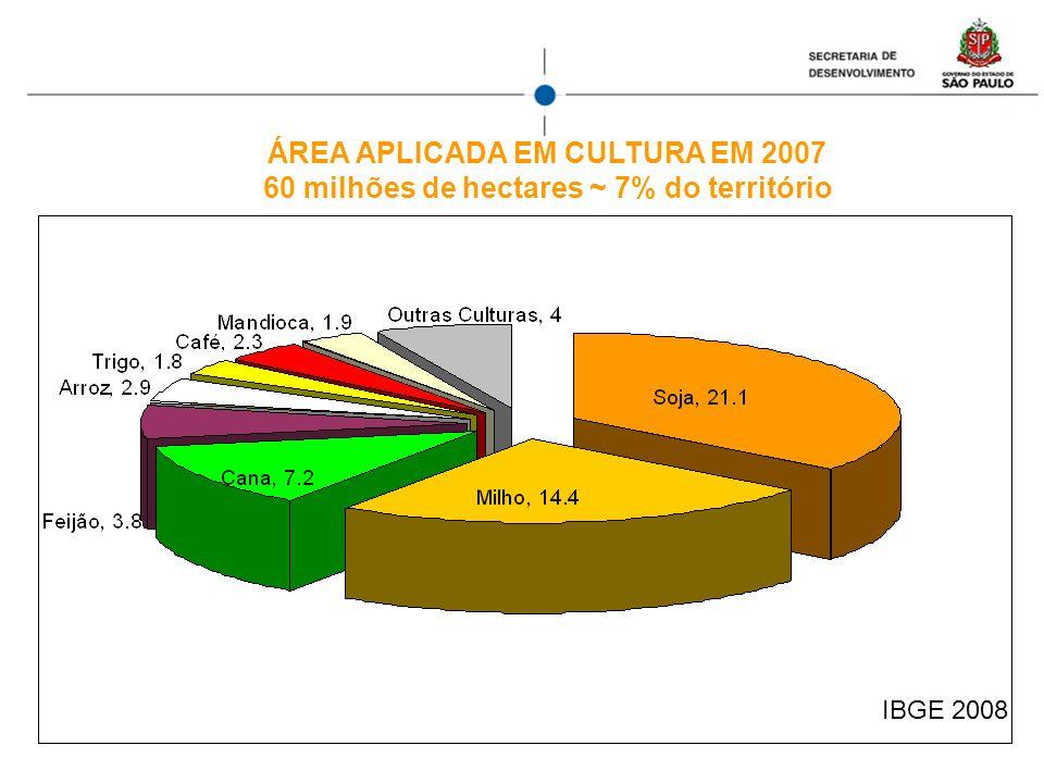ÁREA APLICADA EM CULTURA EM 2007